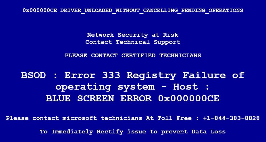"Fake ""BSOD"" Error Message"