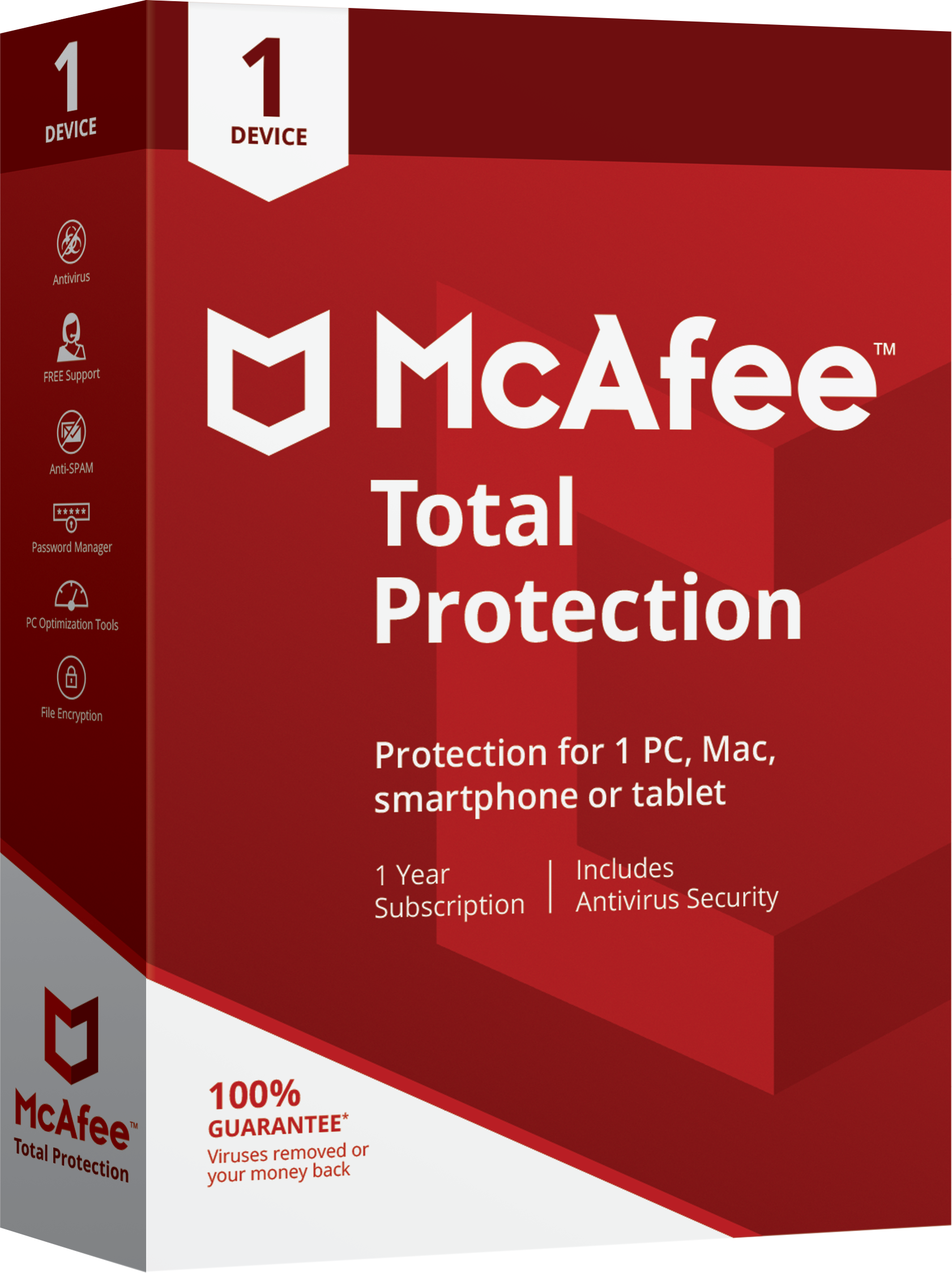 McAfee Total Protection - Virus Protection - 1 Year Subscription - 1 Device