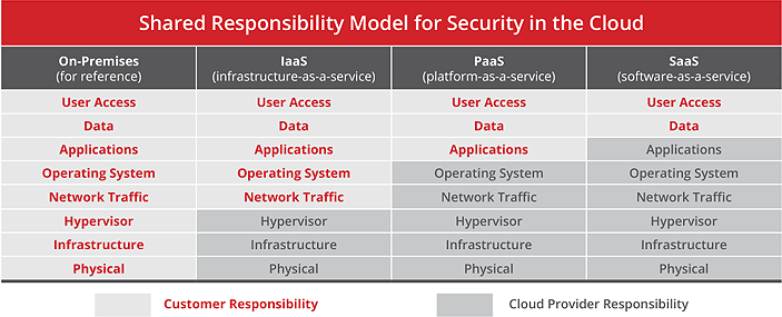 Shared Responsibility Model for Security in the Cloud