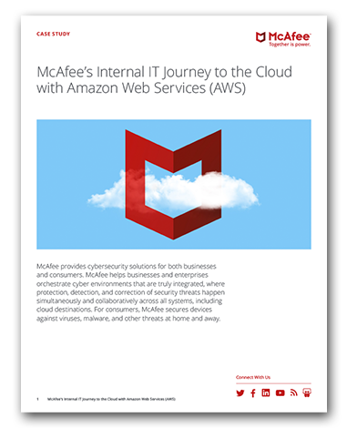 McAfee's AWS Cloud Journey
