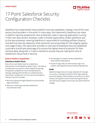 17-Point Salesforce Security Configuration Checklist