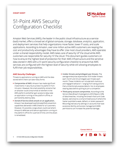 51-Point AWS Security Configuration Checklist