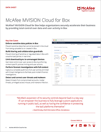 McAfee MVISION Cloud for Box