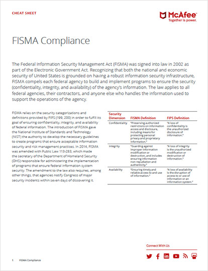 FISMA Compliance Cheat Sheet