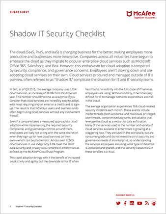 Shadow IT Security Checklist