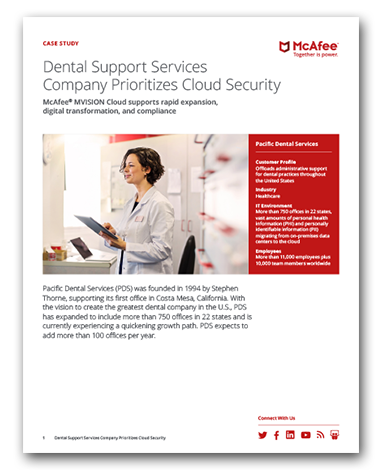 Dental Support Services Company Prioritizes Cloud Security (Pacific Dental Services)