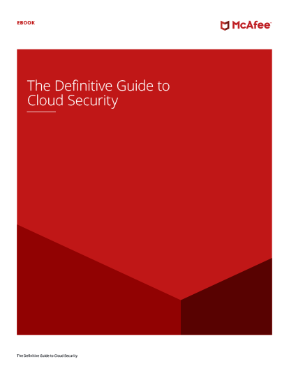 The Definitive Guide to Cloud Security eBook