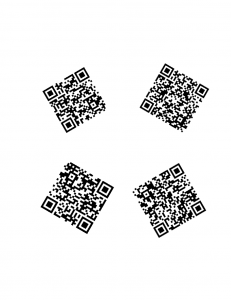 McAfee Download URLs via QR codes arranged in a circle
